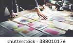 business people meeting design... | Shutterstock . vector #388010176