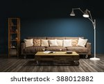 modern evening interior of... | Shutterstock . vector #388012882