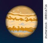 planet jupiter gas giant ... | Shutterstock .eps vector #388016716