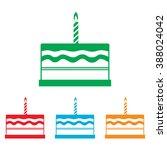 birthday cake sign | Shutterstock .eps vector #388024042