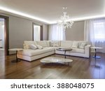 luxury apartment living room   Shutterstock . vector #388048075