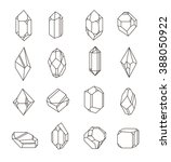 set of non linear crystals.... | Shutterstock .eps vector #388050922