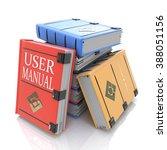 user manual books in the design ... | Shutterstock . vector #388051156