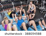group of people working their... | Shutterstock . vector #388054588