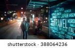led display   travel signage | Shutterstock . vector #388064236