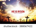 He Is Risen  Silhouette Cross...