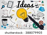 ideas idea vision design plan... | Shutterstock . vector #388079905