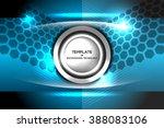 template tech background ... | Shutterstock .eps vector #388083106