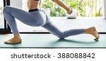 woman yoga practice pose... | Shutterstock . vector #388088842