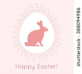happy easter bunny rabbit and... | Shutterstock .eps vector #388094986