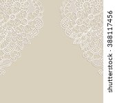 white flower frame  lace... | Shutterstock .eps vector #388117456