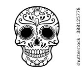 Vector Illustration Of Skull...