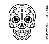 vector illustration of skull... | Shutterstock .eps vector #388125802