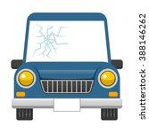 broken car windshield | Shutterstock .eps vector #388146262