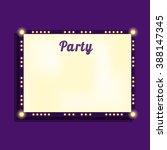 marquee billboard  advertising... | Shutterstock .eps vector #388147345