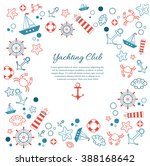 nautical and marine poster.... | Shutterstock .eps vector #388168642