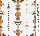 colored vertical totem elements ...   Shutterstock .eps vector #388170022