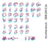 typographic alphabet in a set.... | Shutterstock .eps vector #388184116