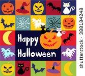 halloween vector icons set....   Shutterstock .eps vector #388184248