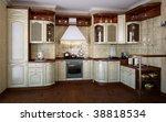 classic kitchen.white wood... | Shutterstock . vector #38818534