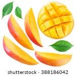 Mango Fruit Slices And Mango...