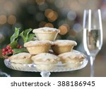 mince pies and champagne | Shutterstock . vector #388186945