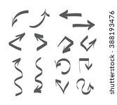 hand drawn arrows vector set... | Shutterstock .eps vector #388193476