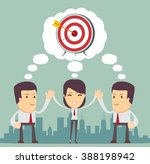 businessmen came to the same... | Shutterstock .eps vector #388198942