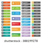 flat web design elements   set... | Shutterstock .eps vector #388199278