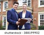 male and female realtor... | Shutterstock . vector #388199902