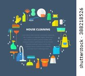 vector trendy flat cleaning... | Shutterstock .eps vector #388218526