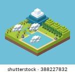 isometric icon design  | Shutterstock .eps vector #388227832