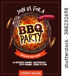 bbq barbecue party hand drawn... | Shutterstock .eps vector #388232698
