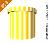 striped container. tub food... | Shutterstock .eps vector #388236136