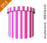 striped container. tub food... | Shutterstock .eps vector #388236142