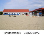 Small photo of CHERNYAHOVSK, RUSSIA - AUGUST 09, 2015: Outdoor parade ground of Stud Georgenburg. Here implement breeding, training, sales of breeding horses and equestrian competitions.