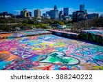 Austin Texas Skyline Graffiti...