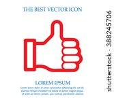 thumb up vector icon. like... | Shutterstock .eps vector #388245706