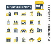 business buildings icons  | Shutterstock .eps vector #388251556