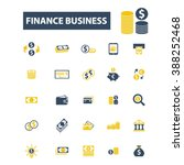 finance business icons  | Shutterstock .eps vector #388252468