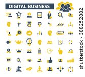 digital business icons  | Shutterstock .eps vector #388252882