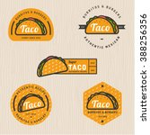 Set Of Taco Logo  Badges ...