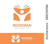 vector open book and man logo.... | Shutterstock .eps vector #388256986
