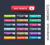 multicolored website button set | Shutterstock .eps vector #388265272
