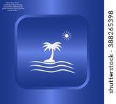 palm trees silhouette on art... | Shutterstock .eps vector #388265398