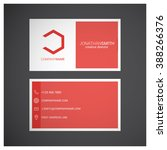 red business card   Shutterstock .eps vector #388266376