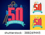 anniversary   background with... | Shutterstock .eps vector #388269445