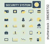 security system icons  | Shutterstock .eps vector #388285732