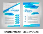 vector flyer template design.... | Shutterstock .eps vector #388290928
