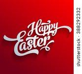 vector happy easter greeting... | Shutterstock .eps vector #388292332
